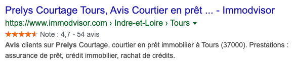 RIch snippets Prelys Courtage
